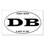 Dewey Beach Sticker (Rectangle)