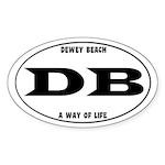 Dewey Beach Sticker (Oval)