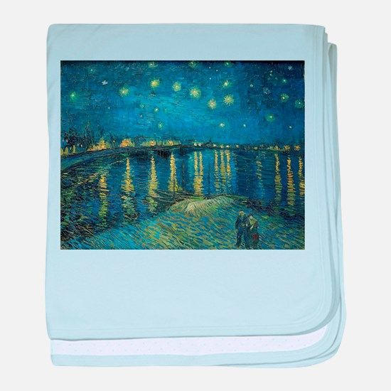 Van Gogh: Starry Night Over the Rhone baby blanket
