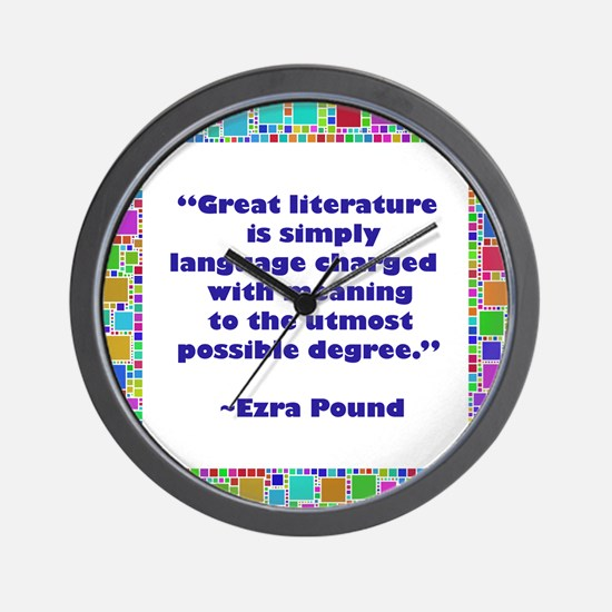 Great Literature Wall Clock