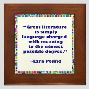 Great Literature Framed Tile