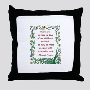 Childhood Spent With A Book Throw Pillow