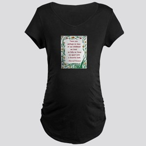 Childhood Spent With A Book Maternity Dark T-Shirt