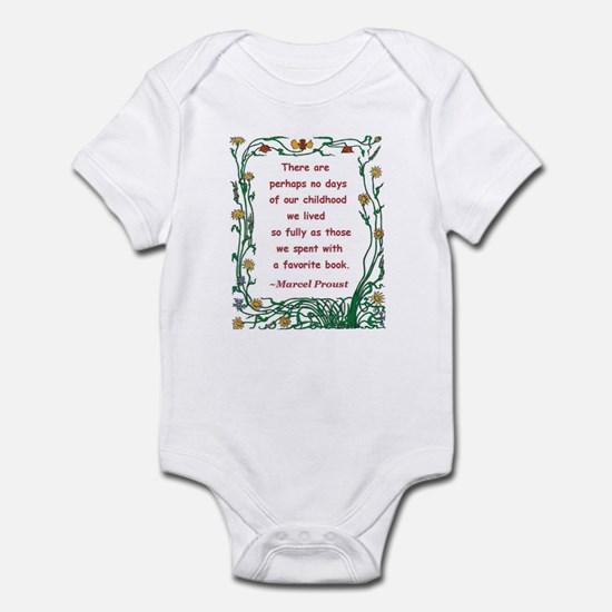 Childhood Spent With A Book Infant Bodysuit