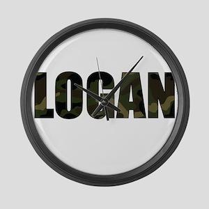 Camo Logan Large Wall Clock