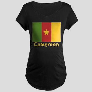 World Cup Soccer Cameroon Maternity Dark T-Shirt