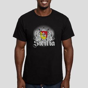Sicilian Pride Men's Fitted T-Shirt (dark)