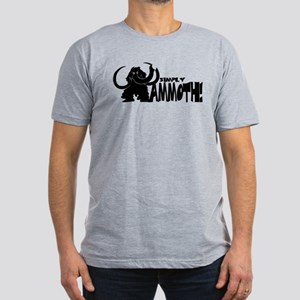 Simply Mammoth Men's Fitted T-Shirt (dark)