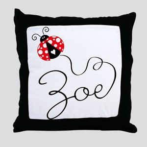 Ladybug Zoe Throw Pillow