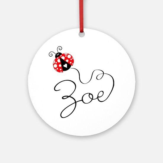 Ladybug Zoe Ornament (Round)