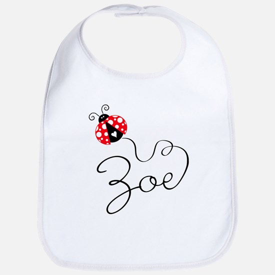 Ladybug Zoe Bib