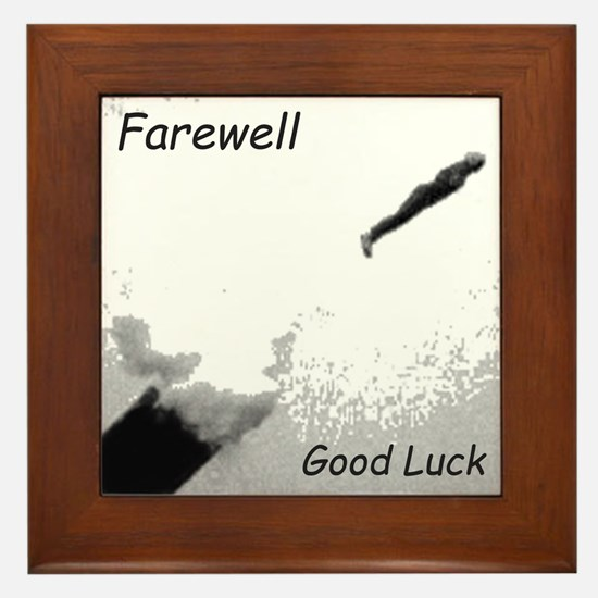 Human Cannonball Framed Tile
