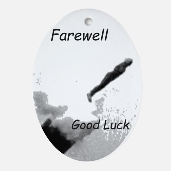 Human Cannonball Ornament (Oval)
