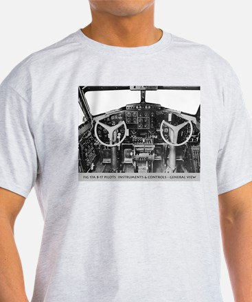 B-17 Cockpit Ash Grey T-Shirt