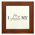 I love New York NY Framed Tile