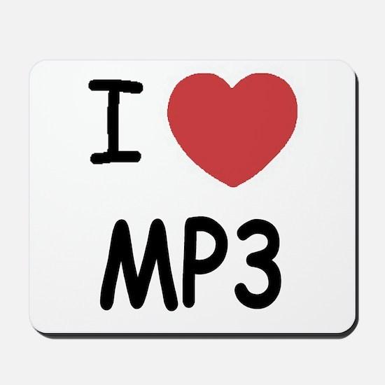 I heart mp3 Mousepad