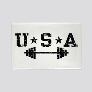 USA Weightlifting Rectangle Magnet