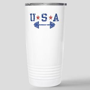 USA Weightlifting Stainless Steel Travel Mug