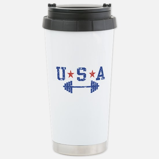 USA Weightlifting Stainless Steel Travel Mug