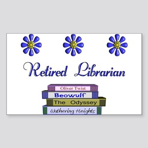 Retired Librarian Sticker (Rectangle 10 pk)