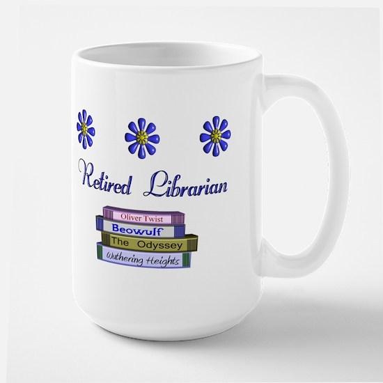 Retired Librarian Large Mug
