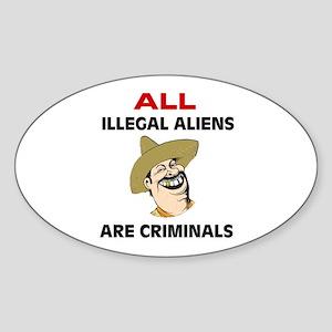 SEND THEM HOME Sticker (Oval 10 pk)