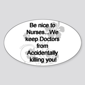 2-be nice to nurses copy Sticker