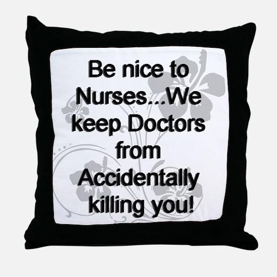 Nursing Throw Pillow