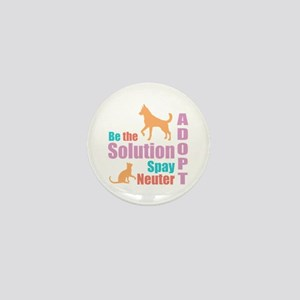 New Be The Solution Mini Button