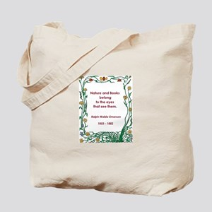 Nature and Books Tote Bag