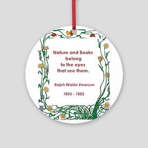 Nature and Books Ornament (Round)