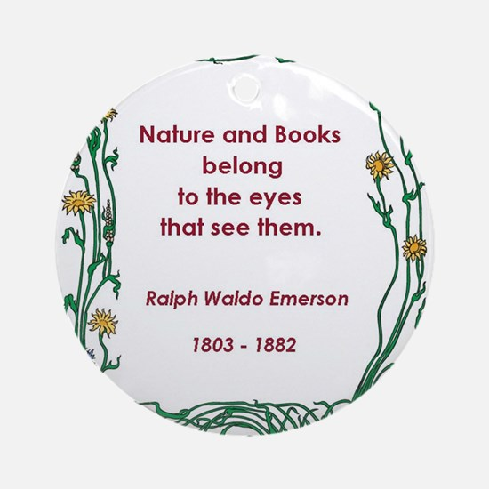Nature and Books Ornament (Round)