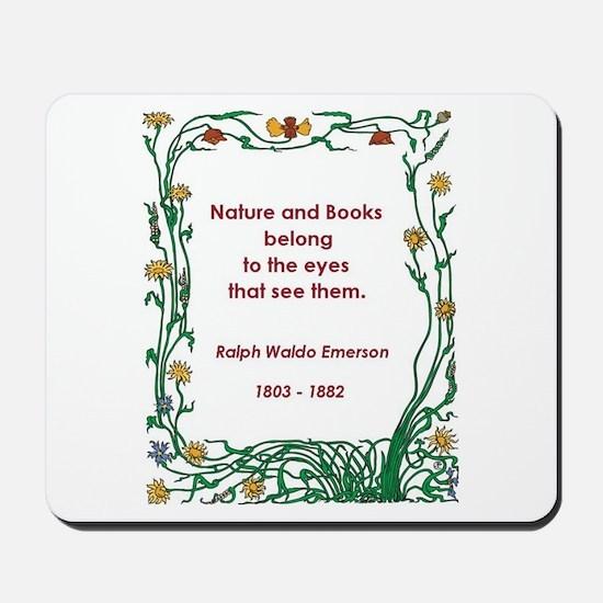 Nature and Books Mousepad