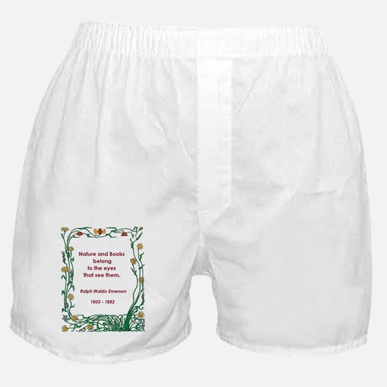 Nature and Books Boxer Shorts