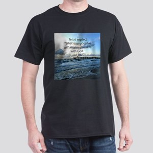 LUKE 18:27 Dark T-Shirt