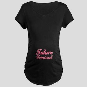 """Future Feminist"" Maternity Dark T-Shirt"