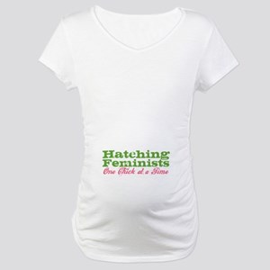 """Hatching Feminists..."" Maternity T-Shir"
