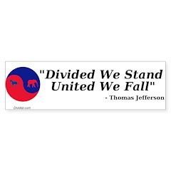Divided Government Sticker (Bumper 50 pk)