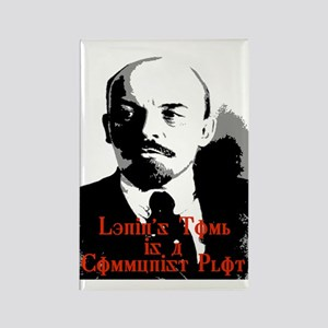 lenin's tomb is a communist p Rectangle Magnet