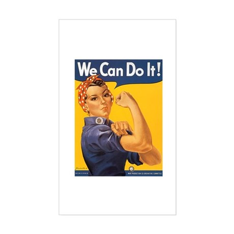 We Can Do It Poster Rectangle Sticker