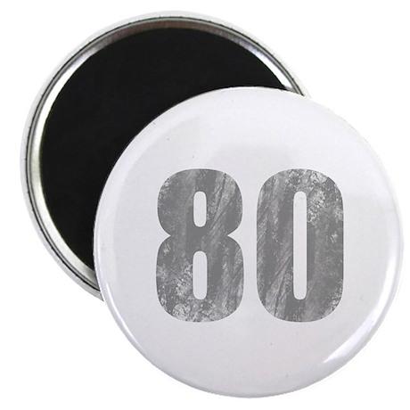 Stonewashed 80th Birthday Magnet