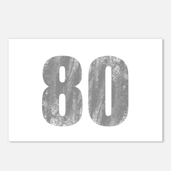 Stonewashed 80th Birthday Postcards (Package of 8)