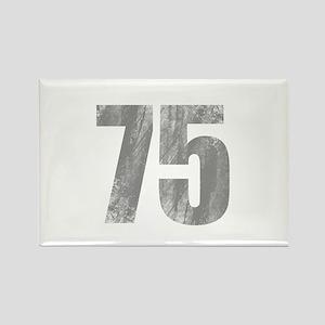 Stonewashed 75th Birthday Rectangle Magnet