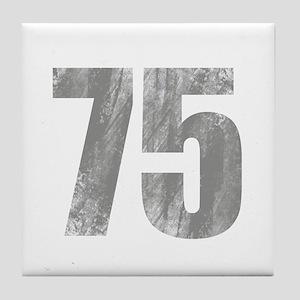 Stonewashed 75th Birthday Tile Coaster