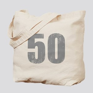 Stonewashed 50th Birthday Tote Bag