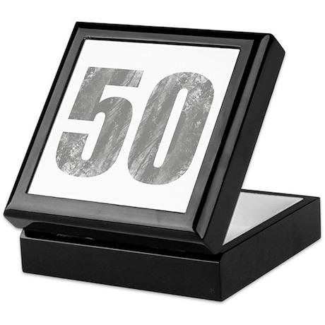 Stonewashed 50th Birthday Keepsake Box