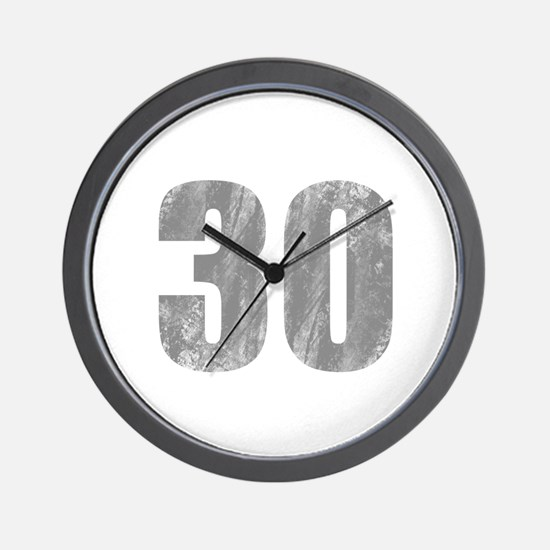 Stonewashed 30th Birthday Wall Clock