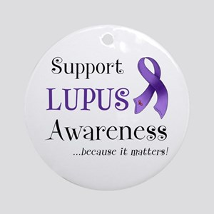 Support Lupus Awareness Ornament (Round)