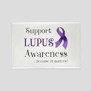 Support Lupus Awareness Rectangle Magnet