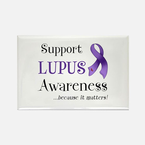 Support Lupus Awareness Rectangle Magnet